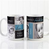 My Favorite Faces Photo White Handle Coffee Mug-15 oz. - 12739-L
