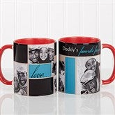 My Favorite Faces Photo  Coffee Mug 11oz.- Red - 12739-R