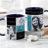My Favorite Faces Photo Coffee Mug 11oz.- Blue - 12739-BL