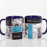 My Favorite Faces Photo Coffee Mug 11oz.- Blue - 12739-BL