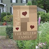 Loving Hearts Personalized Garden Flag - 12750
