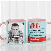 Who Loves You? Personalized Coffee Mug 11 oz.- Pink - 12755-P