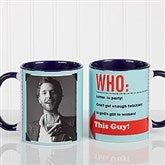 Who Loves You? Personalized Coffee Mug 11 oz.- Blue - 12755-BL