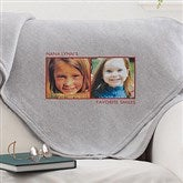Picture Perfect Personalized Sweatshirt Blanket-2 Photo - 12760-2