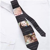 His Little One's 3 Photo Personalized Men's Tie