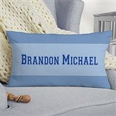 Baby's Big Day Personalized Lumbar Keepsake Pillow - 12787-LB