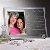 Dear Mom Poem Personalized Glass Frame - 12792
