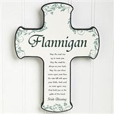 Traditional Irish Blessing Personalized Cross - 12794