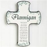 Personalized Wall Cross - Irish Wedding Blessings