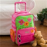 Pretty Flowers Embroidered Rolling Luggage by Stephen Joseph - 12799