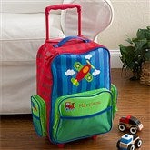 Airplane Embroidered Rolling Luggage - 12800