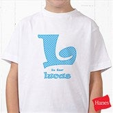 Alphabet Name Personalized Hanes® Youth T-Shirt - 1282-YCT