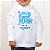Alphabet Name Personalized Toddler Hooded Sweatshirt - 1282-CTHS
