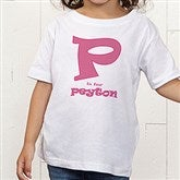 Alphabet Name Personalized Toddler T-Shirt - 1282TT