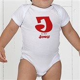 Alphabet Name Personalized Baby Bodysuit - 1282-CBB
