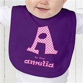 Alphabet Name Personalized Baby Bib - 1282-B