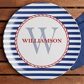 Anchors Aweigh! Personalized Melamine Plate - 12823D-P