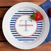 Anchors Aweigh! Personalized Melamine Bowl - 12823D-B