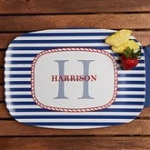 Anchors Aweigh! Personalized Melamine Platter - 12823D-PL