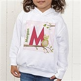 Owl About You Personalized Toddler Hooded Sweatshirt - 12837-THS