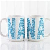 Repeating Name For Her Personalized Coffee Mug 15 oz.- White - 12868-L