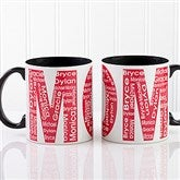 Repeating Name For Her Personalized Coffee Mug 11 oz.- Black - 12868-B