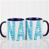 Repeating Name For Her Personalized Coffee Mug 11 oz.- Blue - 12868-BL