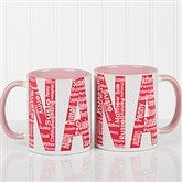 Repeating Name For Her Personalized Coffee Mug 11 oz.- Pink - 12868-P