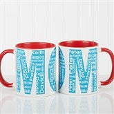 Repeating Name For Her Personalized Coffee Mug 11 oz.- Red - 12868-R
