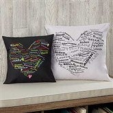 Her Heart of Love Personalized Keepsake Pillow - 12878