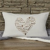 Her Heart of Love Personalized Lumbar Throw Pillow - 12878-LB