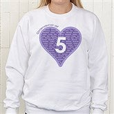 Mommy Of Personalized White Sweatshirt - 12881-D