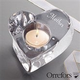 Engraved Orrefors Crystal Heart Votive For Her - 12886