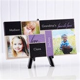 My Favorite Faces Personalized Canvas Print-3 Photos- 5½