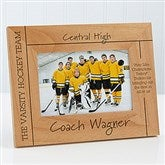 Best Coach Personalized Picture Frame- 4 x 6 - 12921-S