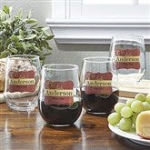 Wine Please! Personalized Stemless Wine Glass Set - 12923D-G