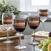 Wine Please! Personalized Wine Glass Set - 12923D-S