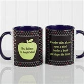 Teachers Green Apple Personalized Coffee Mug 11oz.- Blue - 12925-BL