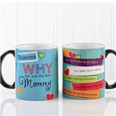 Reasons Why Personalized Black Coffee Mug- 11 oz. - 12930-B