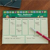 Teacher's Little Learners Personalized Desk Pad Planner-Small - 12932-S