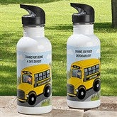 Bus Driver Character Personalized Water Bottle - 12938-1