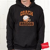 15 Sports Personalized Coach Black Hooded Sweatshirt - 12950-BHS