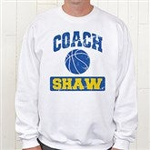 15 Sports Personalized Coach White Sweatshirt - 12950-WS