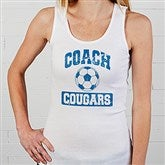 15 Sports Personalized Coach White Tank - 12950-WTT