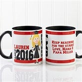 Graduation Character Personalized Coffee Mug 11oz.- Black - 12954-B