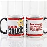 Graduation Character Personalized Mug- Black Handle - 12954-B