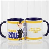 Graduation Character Personalized Coffee Mug 11oz.- Blue - 12954-BL