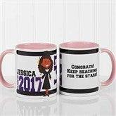 Graduation Character Personalized Coffee Mug 11oz.- Pink - 12954-P