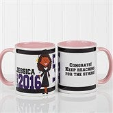 Graduation Character Personalized Coffee Mug 11oz.- Pink - 12954-P