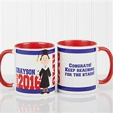 Graduation Character Personalized Coffee Mug 11oz.- Red - 12954-R